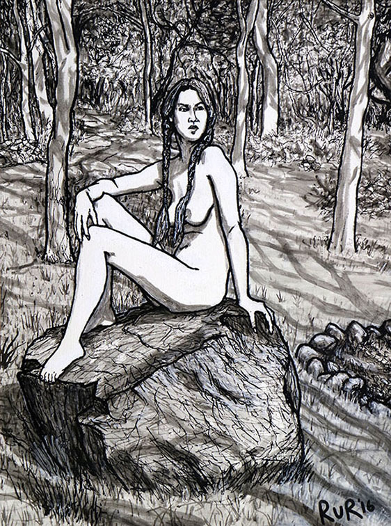 Nude girls of the white mountains